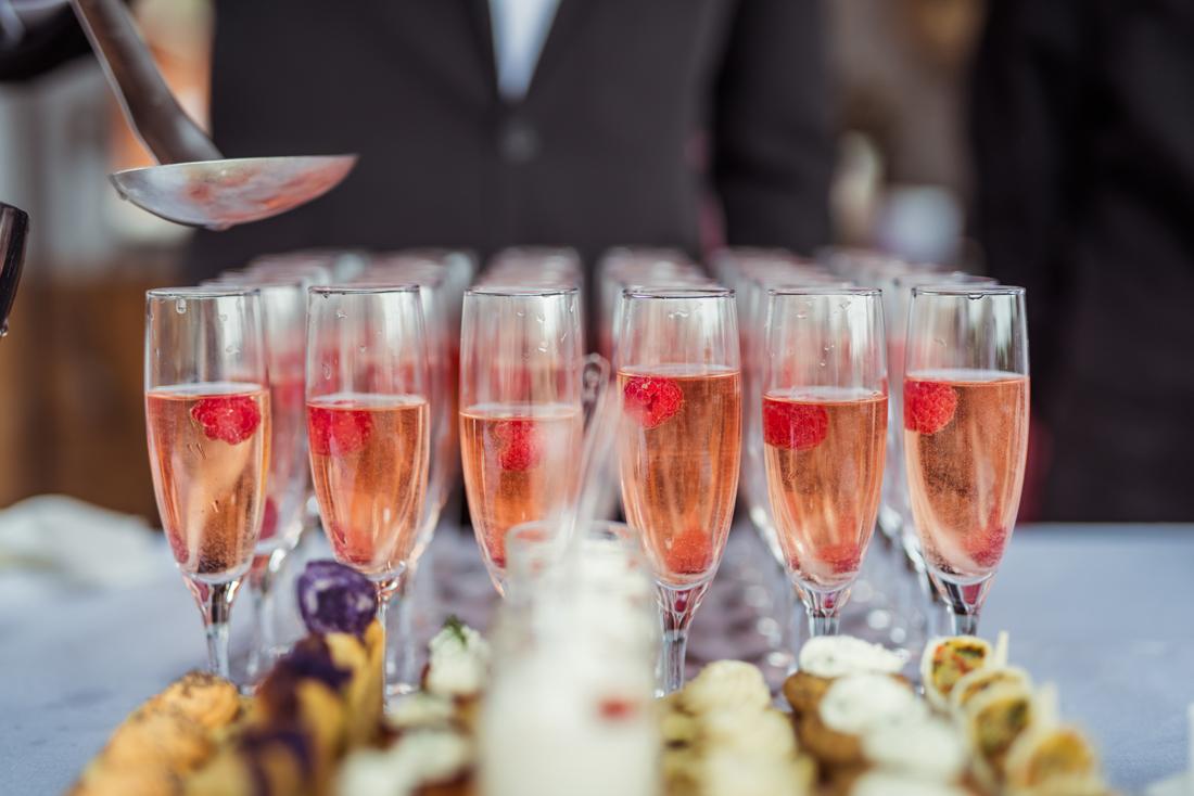 coupe de champagne framboise